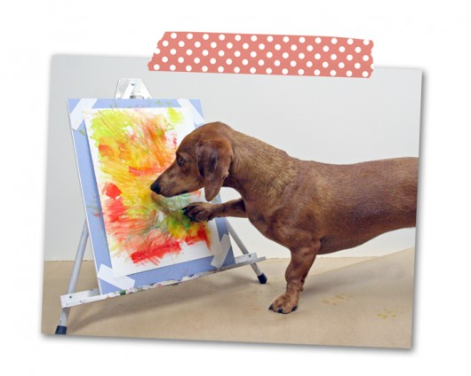 ammo the dachshund painting