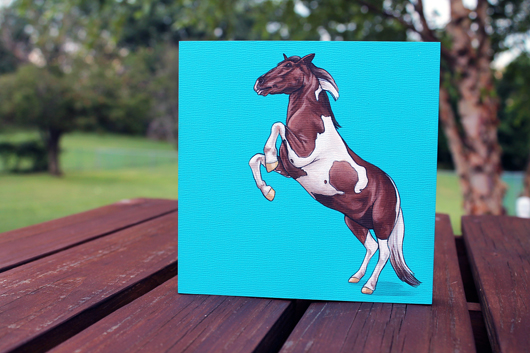 Minnow the Painting Pony painting by Kim @ Yellow Brick Home - via Ammo the Dachshund