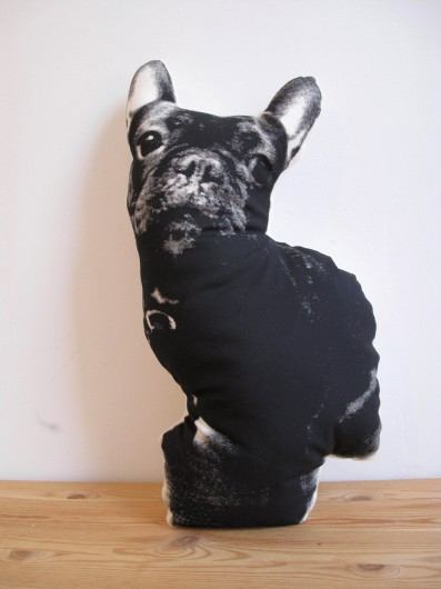 Custom Silkscreened Pet Pillows from Broderpress on Etsy via Ammo the Dachshund