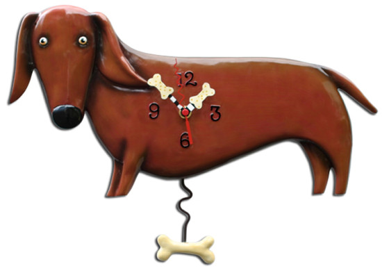 Friday Fetch: Dog Clocks from Allen Designs via Ammo the Dachshund