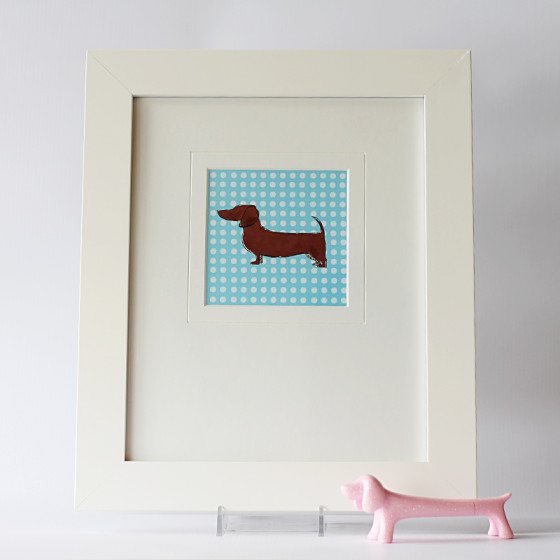 New in the Shop! Graphic Dachshund Prints! via Ammo the Dachshund // Flying Hero