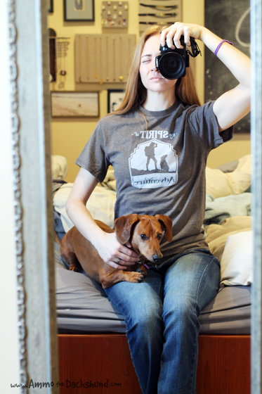 Fuji and Friends T-Shirt Review & Giveaway // Ammo the Dachshund
