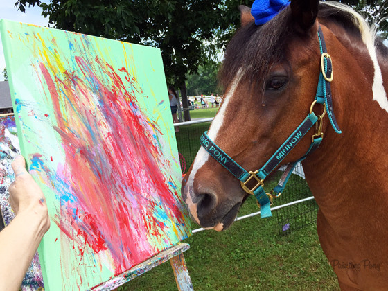 Painting Pony Paints for Charity